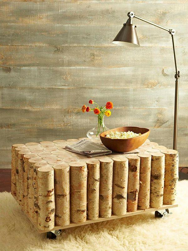 couchtisch selber bauen holz blumen lampe - Kreative Ideen Aus Holz