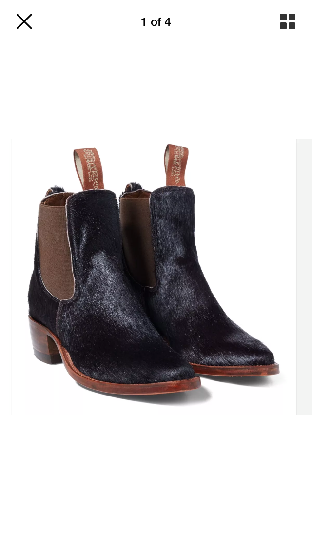 RRL Calf Hair Chelsea Boots | Boots