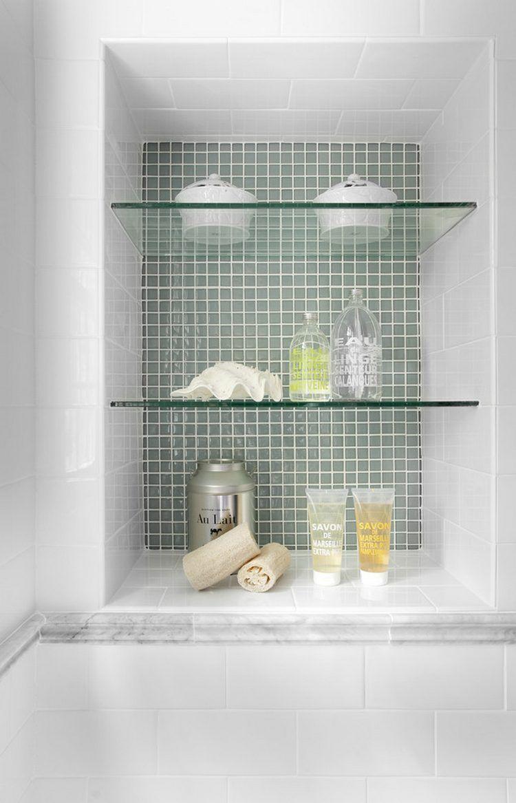 Glass shelves, a practical, attractive solution. | Fürdőszoba ...