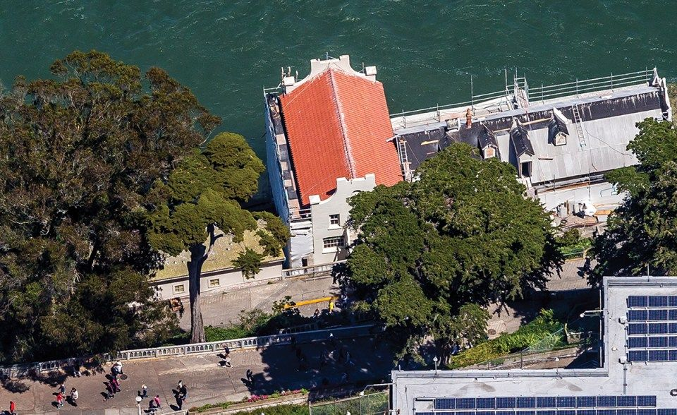 Alcatraz Island Guardhouse Library Renovated Roof In San Francisco
