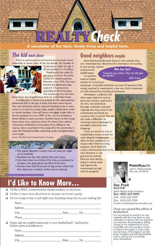 Realty Check Vol    Real Estate Newsletter Sm