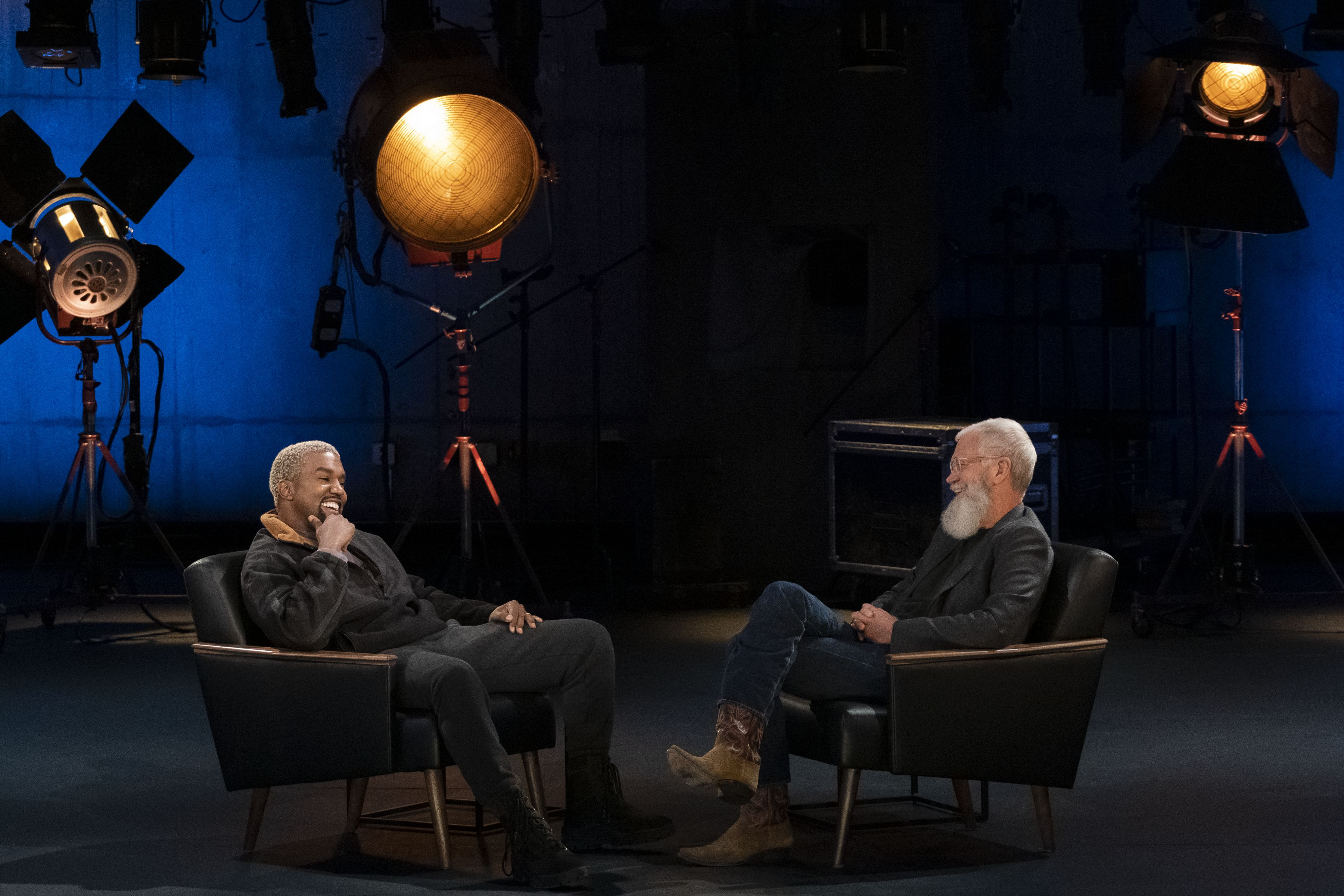 Kanye West S Metoo Comments On My Next Guest Needs No Introduction Led To David Letterman Calling Him Out Https David Letterman Tv Set Design Kids Stage