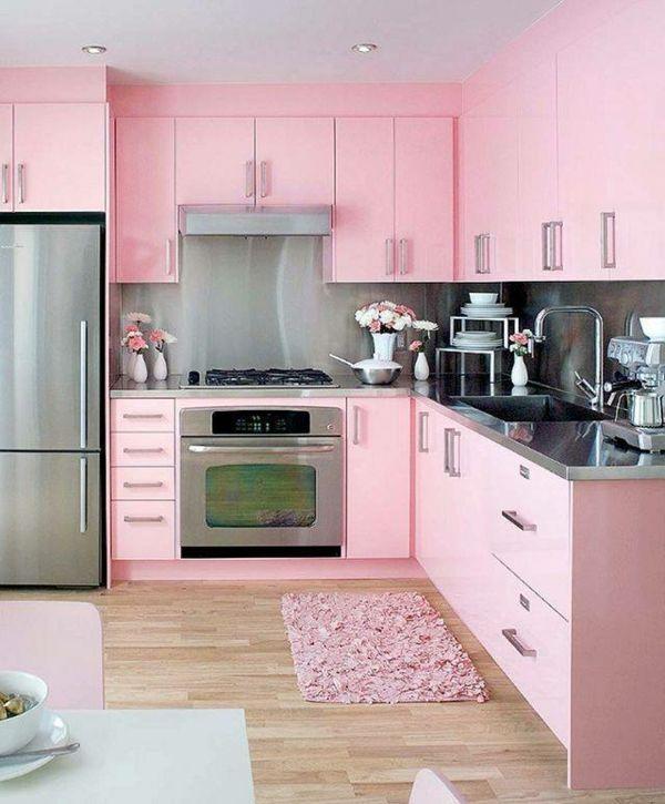 Küche Rosa rosa küche mit tollen küchenschränken rosa pink lila