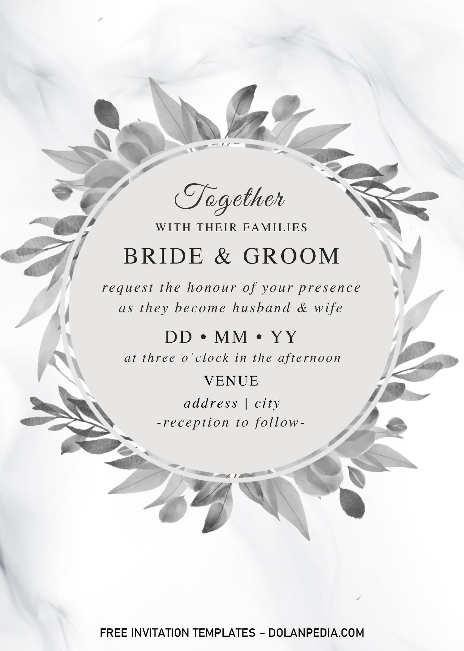 Black And White Wedding Invitation Templates Editable With Ms Word Black And White Wedding Invitations White Wedding Invitations Wedding Invitation Templates
