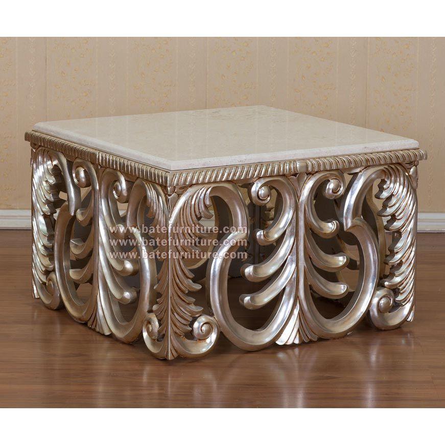 Baroque Square Coffee Table Cof439