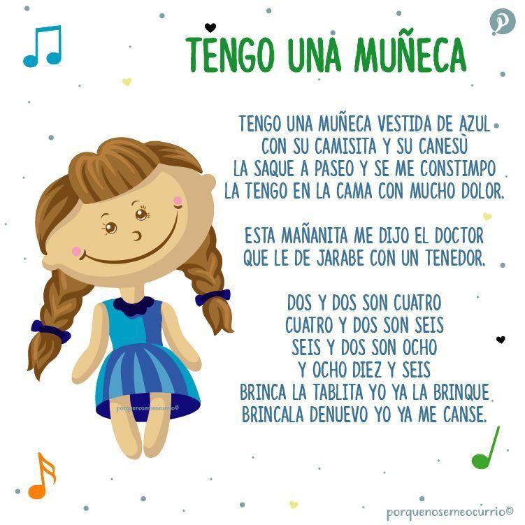 Tengo Una Muñeca Letras De Canciones Infantiles Canciones
