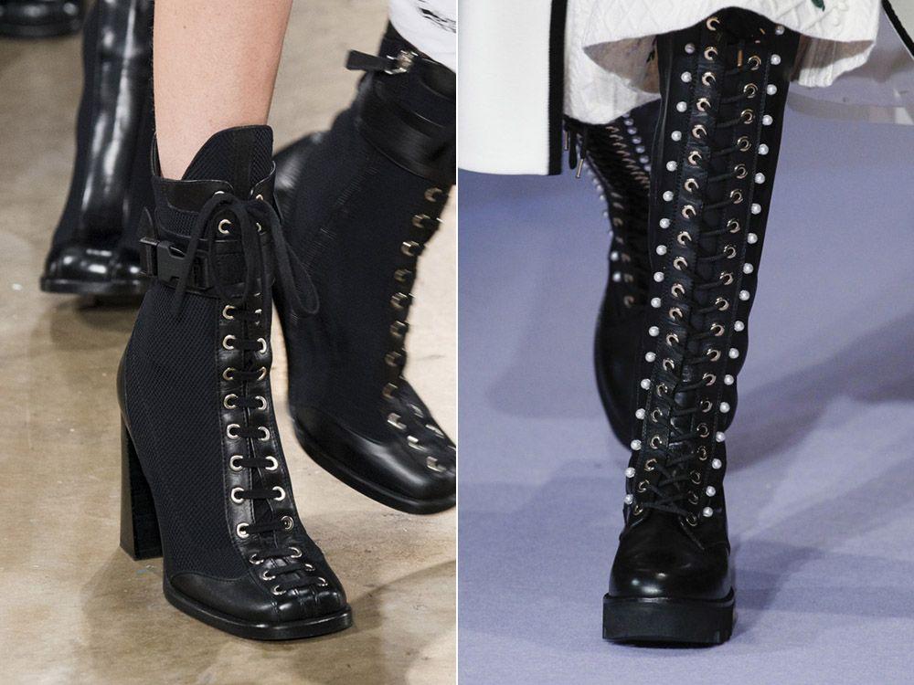 33df1f562536 Сапоги со шнуровкой осень-зима 2017-2018   Обувь (Shoes)   Pinterest ...