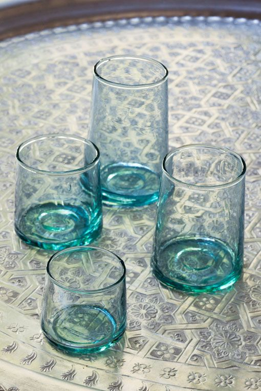 Love the color/style of these handblown glasses.