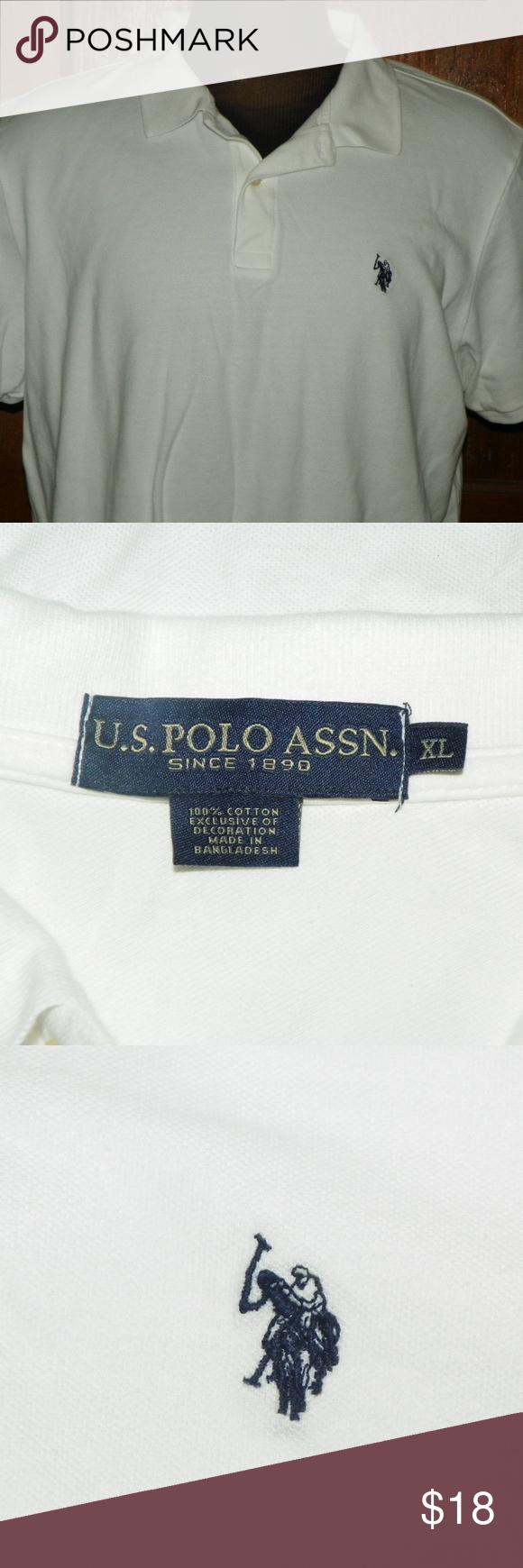 Us Polo Assn White Polo Shirt Blue Pony Logo White Polo Shirt Polo Shirt Colors Shirts Blue