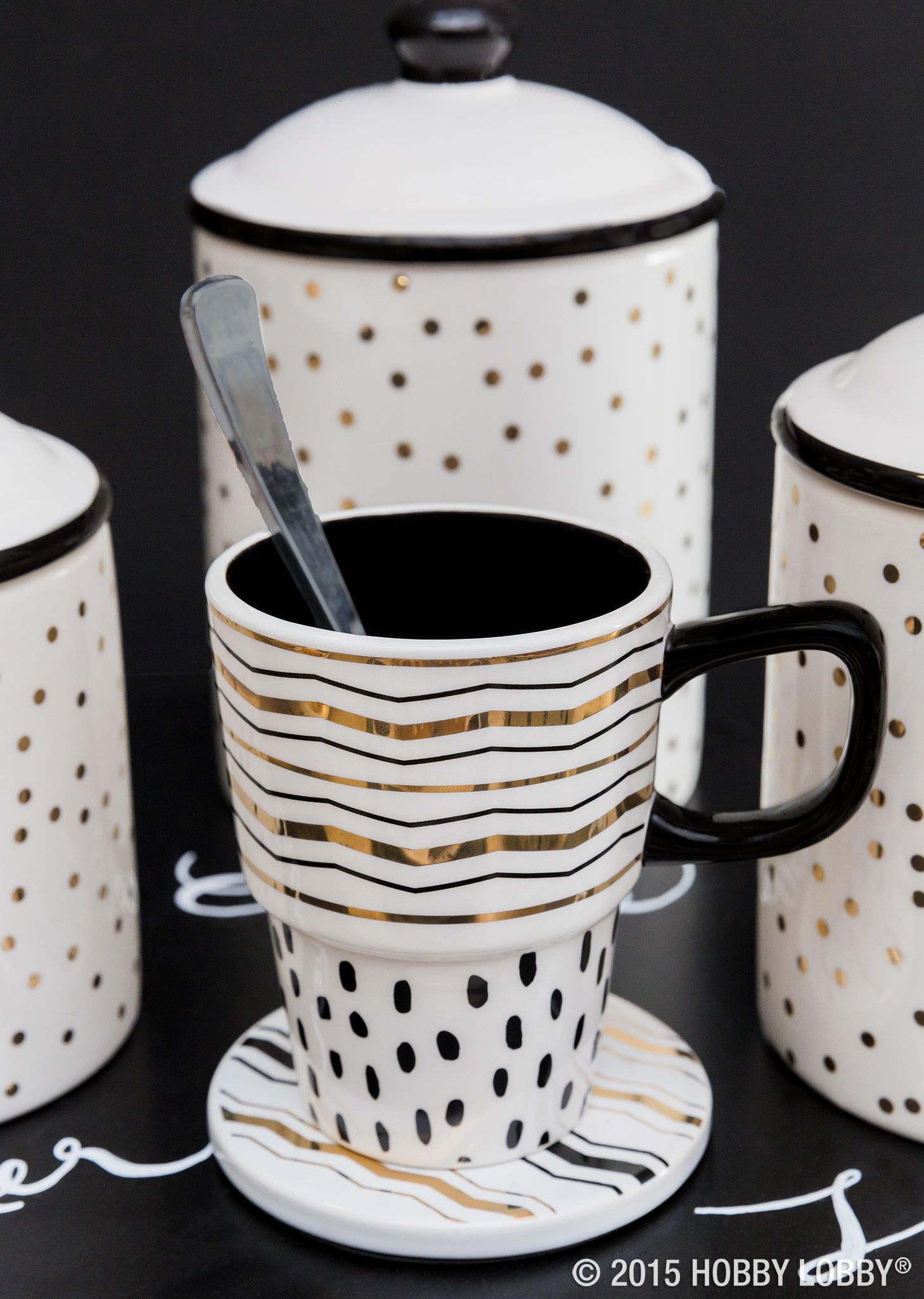 You deserve a break Consume your coffee in style with a delectably dazzling table setting