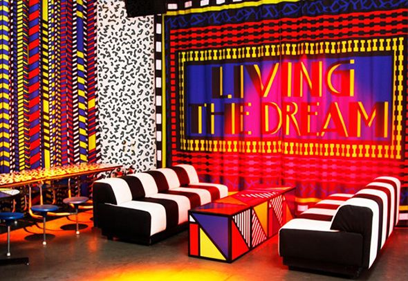 Interiors Memphis Style Walala 2 PatternMemphis DesignNervous