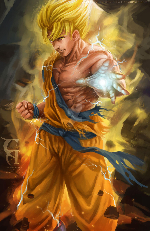 Dragon Ball Z Songoku Fanart Goku Son Goku Goku Super Saiyan God