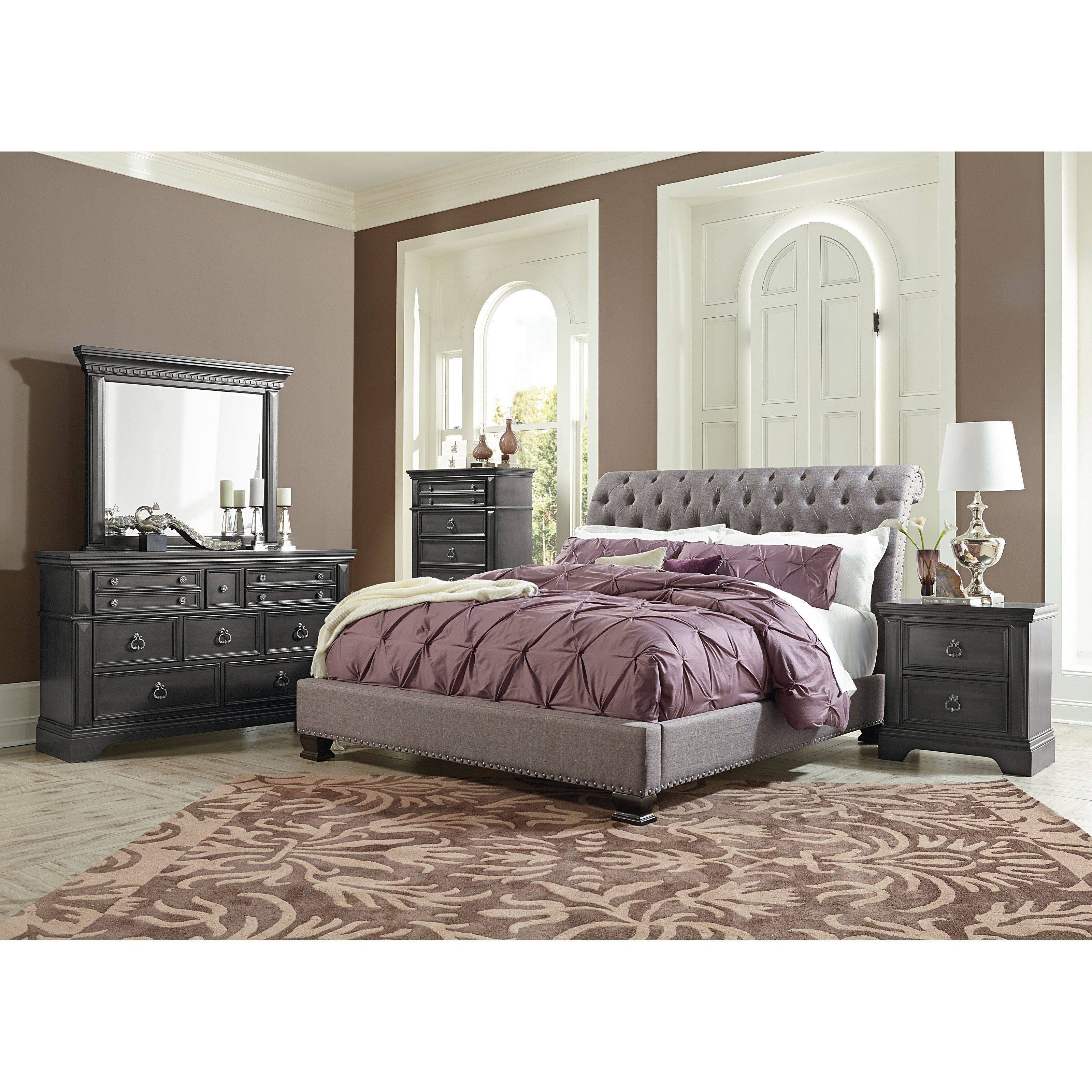 products king traditional furniture quilted with inc upholstered bed sleigh