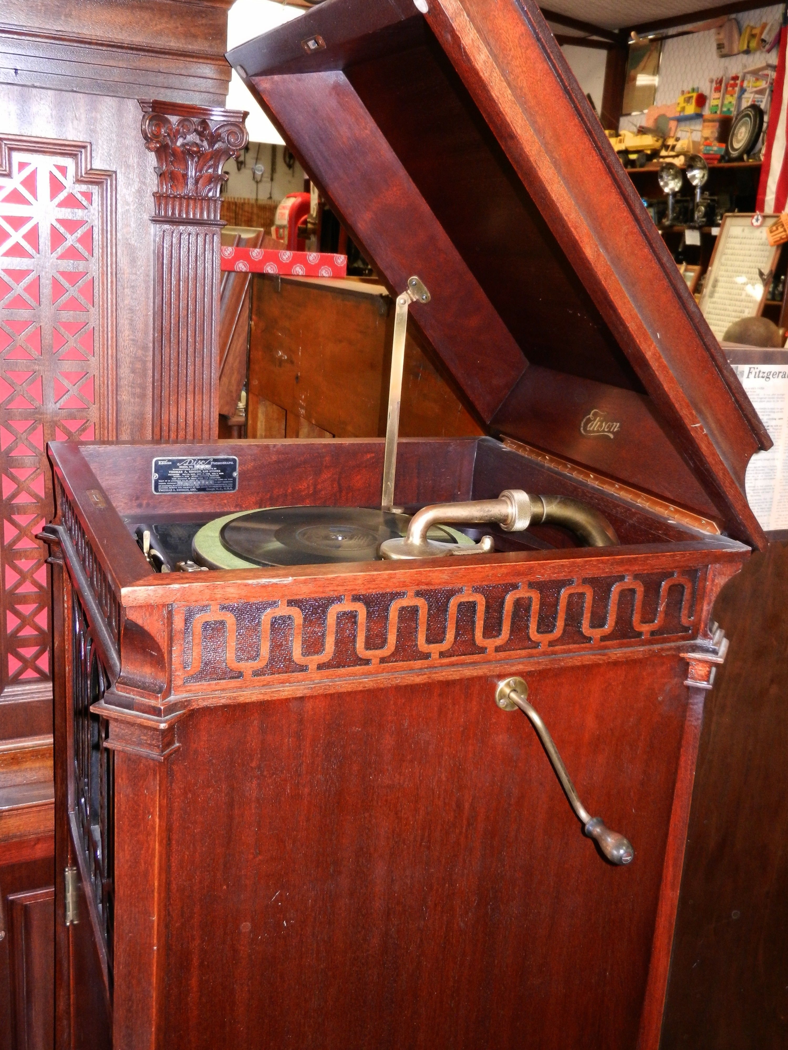 Old Edison Record Player Record Player Old Record