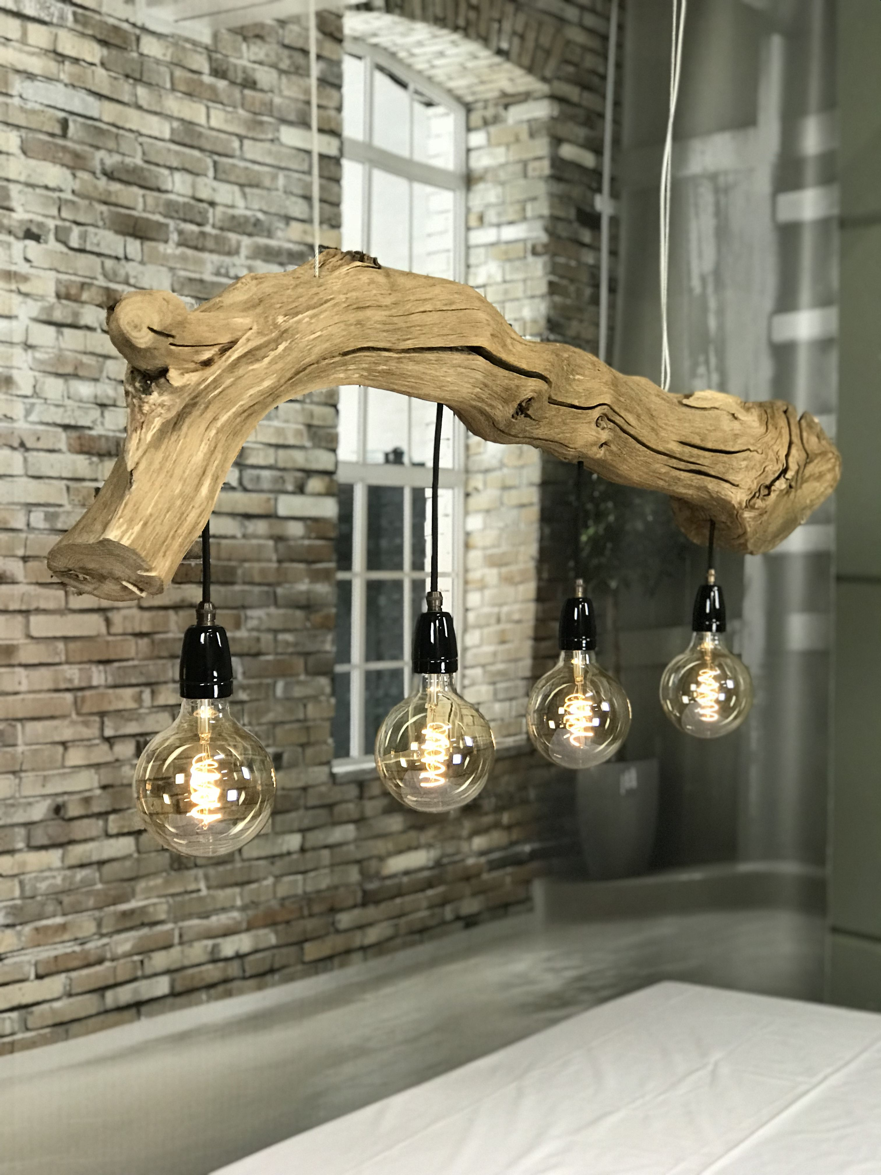 Trunk Ceiling Lamp With Led Vintage Lamps Natural And Industrial - Woonkamer Lamp Vintage