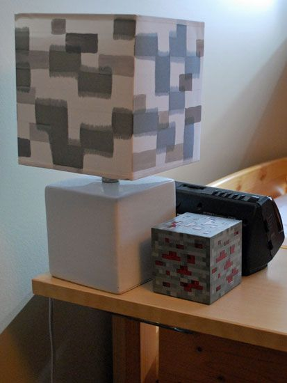 Minecraft Lamp And Redstone Minecraft Room Decor Minecraft Room