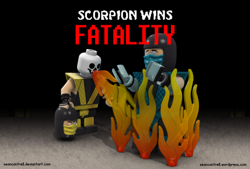 Lego Scorpion Fatality By Seancantrell Lego Lego Photography Lego Photo