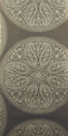 Paisley Circles wallpaper  Charcoal  Sanderson - Caverley collection