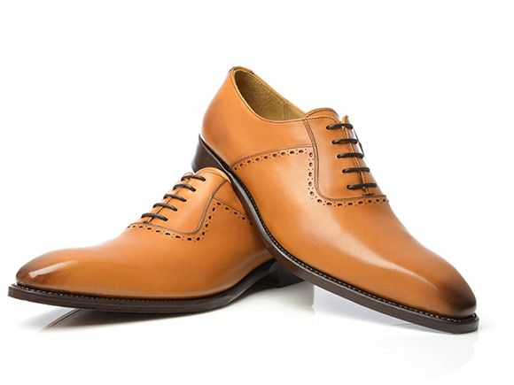 ab283b08142e8 SHOEPASSION.com – Goodyear-welted Oxford in cognac | Pat | Shoes ...