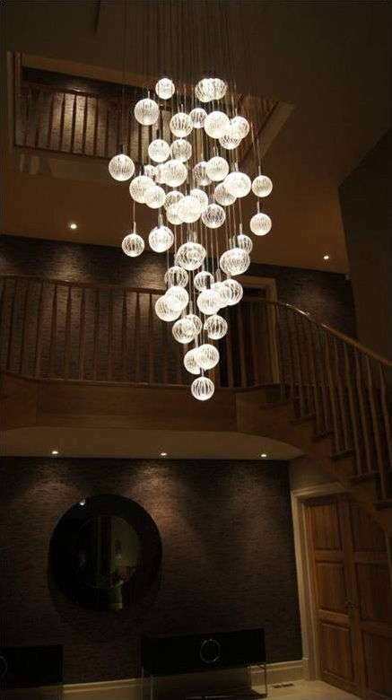 Lighting Basement Washroom Stairs: Entrance Chandelier? Glass Chandeliers