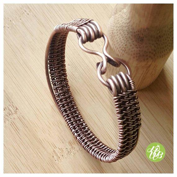 Einfacher Draht Kupfer Manschette gewebte von FromRONIKwithLove ...