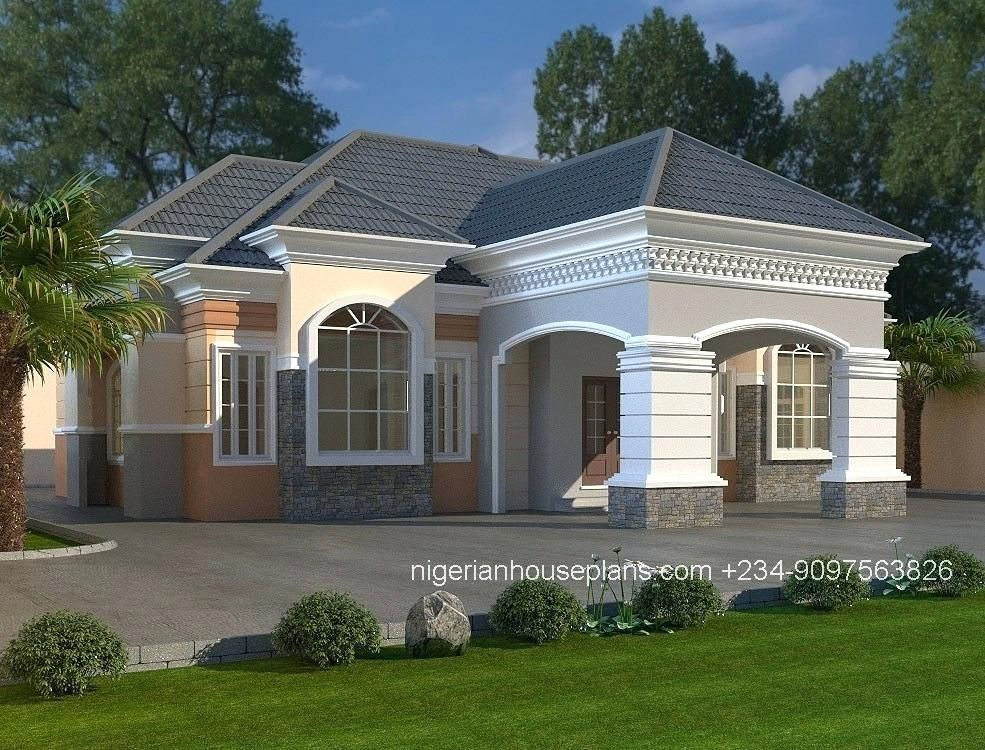 5 Bedroom Bungalow Plans In Nigeria 6 Bedroom Bungalow House Plans In Awesome Nhouseplans In 2020 Bungalow Style House Bungalow House Design Bungalow House Floor Plans