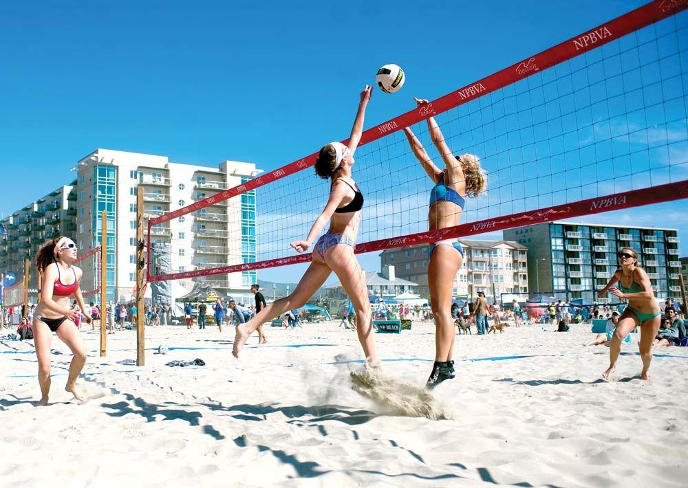 Seaside Beach Volleyball Volei De Praia De Praia Esportes
