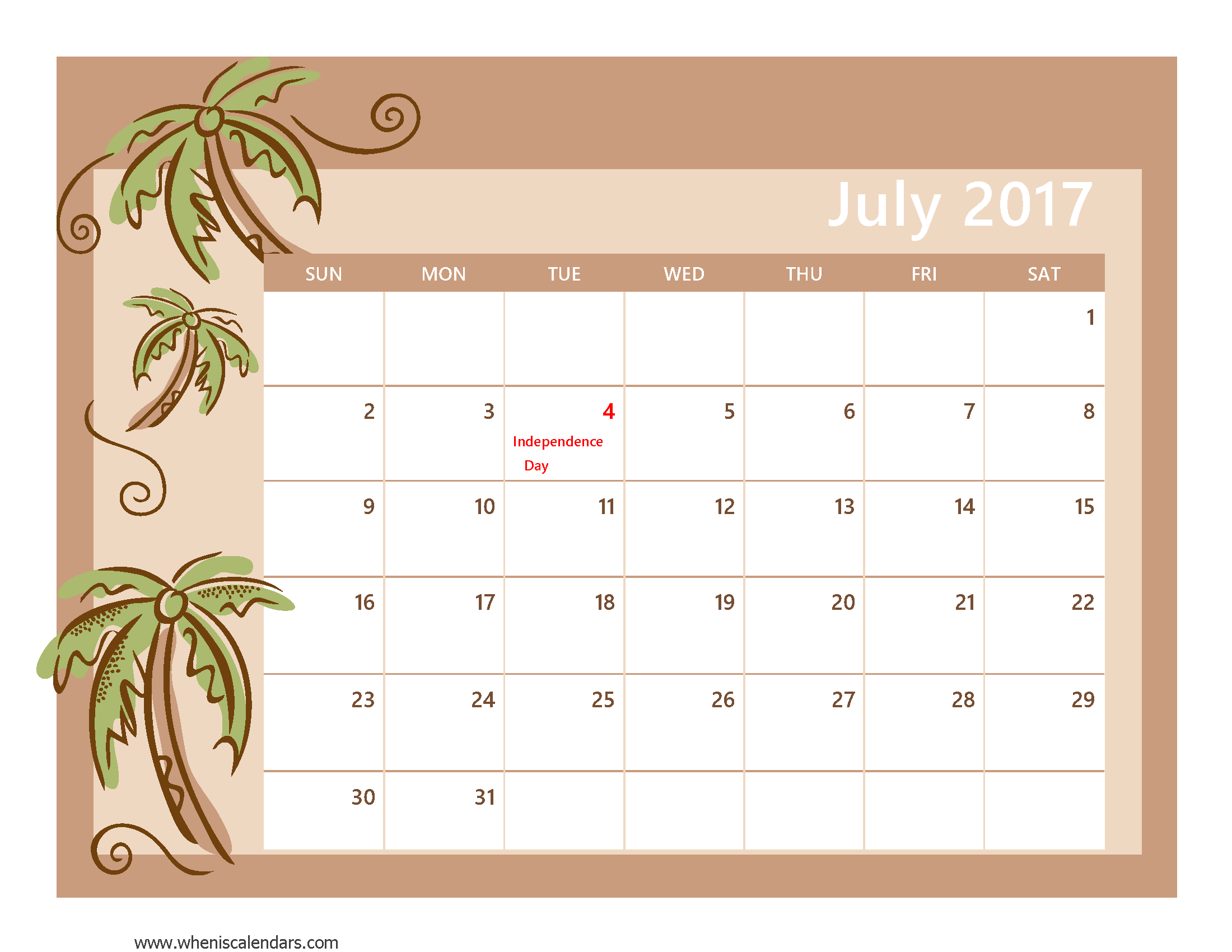 Printable July When Is Calendars  Yahoo Image Search Results