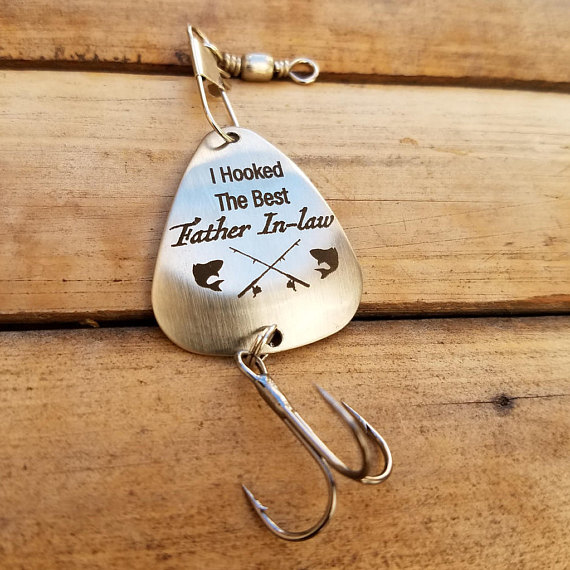 Father Of Groom Gift I Hooked The Best In Law Fishing Lure Dad Christmas Gifts Birthda