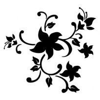 Szablony Z Tworzywa Flora Kwiaty Motywy Roslinne Szabloneria Pl Szablony Malarskie I Naklejki Na Sciane Flower Stencil Stencils Wall Stencil Designs