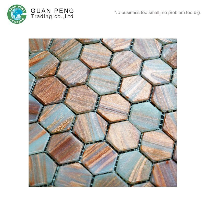 Mosaic Wall Tiles Dubai Design Look Like Wood Hexagon Mosaic Tile ...