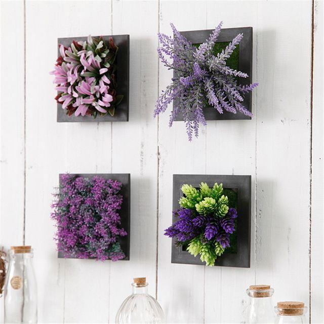 3d creativo metopa plantas suculentas de imitaci n marco for Decoracion hogar 3d