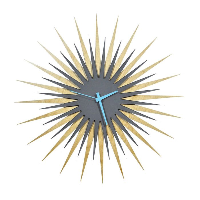 "Metal Art Studio Oversized 23"" Atomic Wall Clock | AllModern"