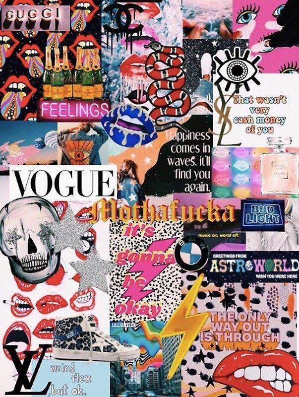 Celebrity Style Vogue Zeichnung Vogue Zeichnung Vogue Fond Ecran Vogue Russ Celebrity Style Collage Background Aesthetic Collage Iphone Wallpaper