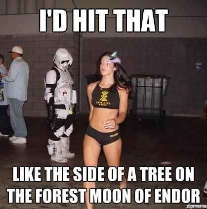 """This pervy Stormtrooper. 