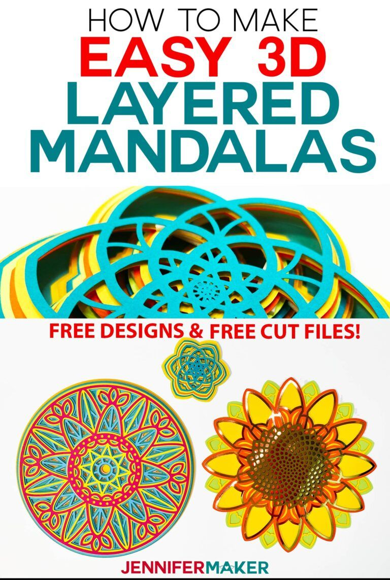 3D Layered Mandalas How to Multilayer & Mesmerize