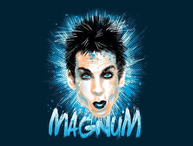 Magnum! T-Shirt - Zoolander T-Shirt is $11 today at TeeFury!