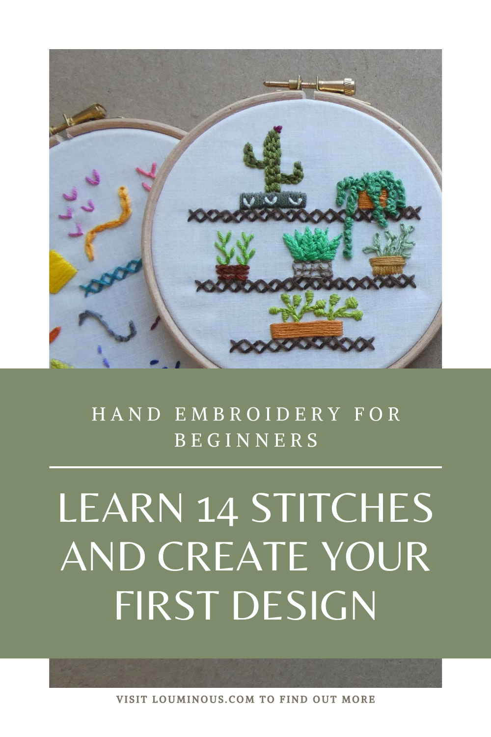 Hand Embroidery For Beginners Step By Step Learn 14 Stitches And Create Your First Desi In 2020 Embroidery For Beginners Hand Embroidery Patterns Free Hand Embroidery