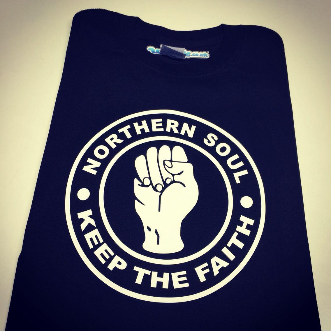 custom T-Shirt Tee Northern Soul Keep the Faith