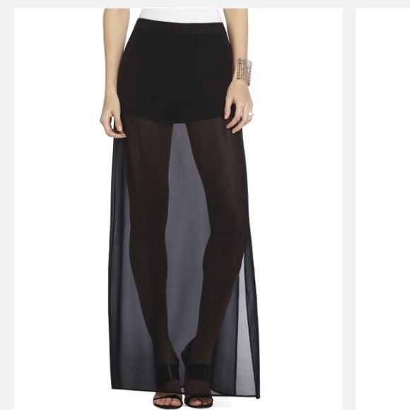 BCBGMAXAZRIA Womens Peyton Fit and Flare Skirt