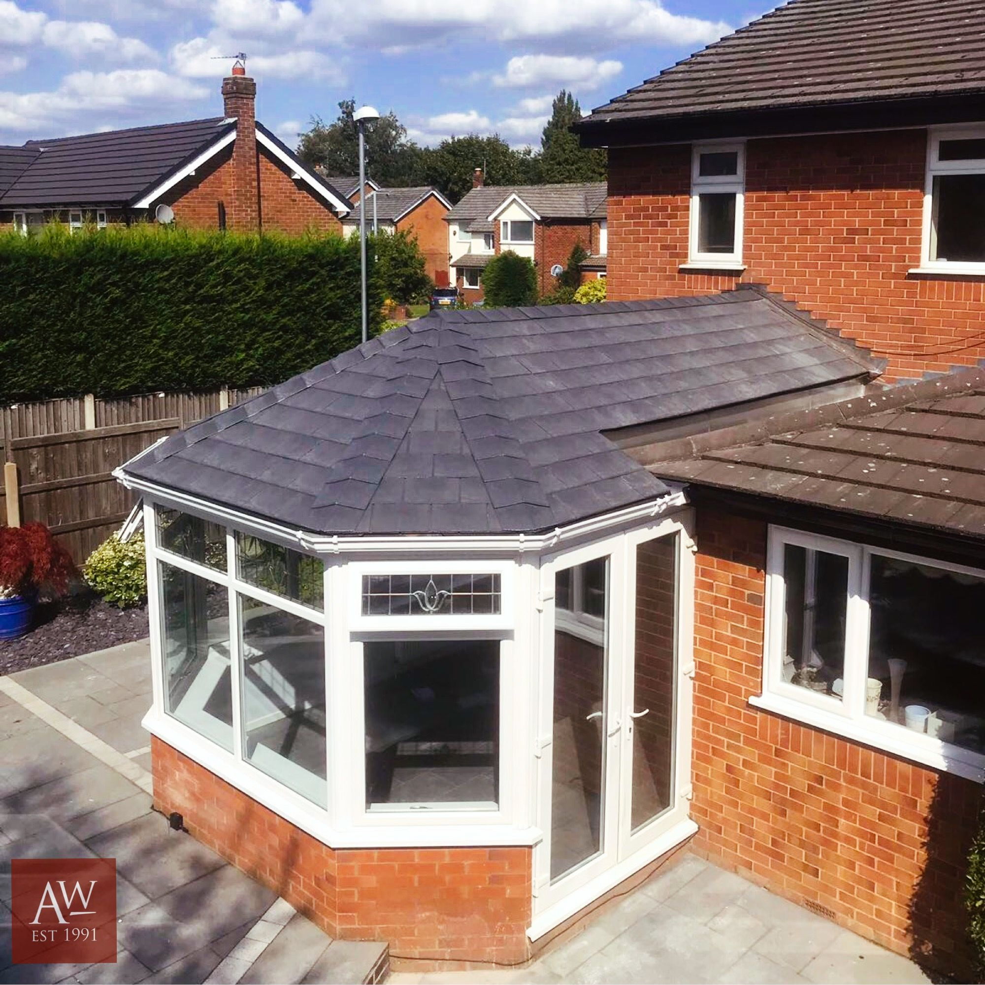 Guardian Roofs In Stockport Alexander Windows In 2020 Warm Roof Conservatory Roof Tiled Conservatory Roof