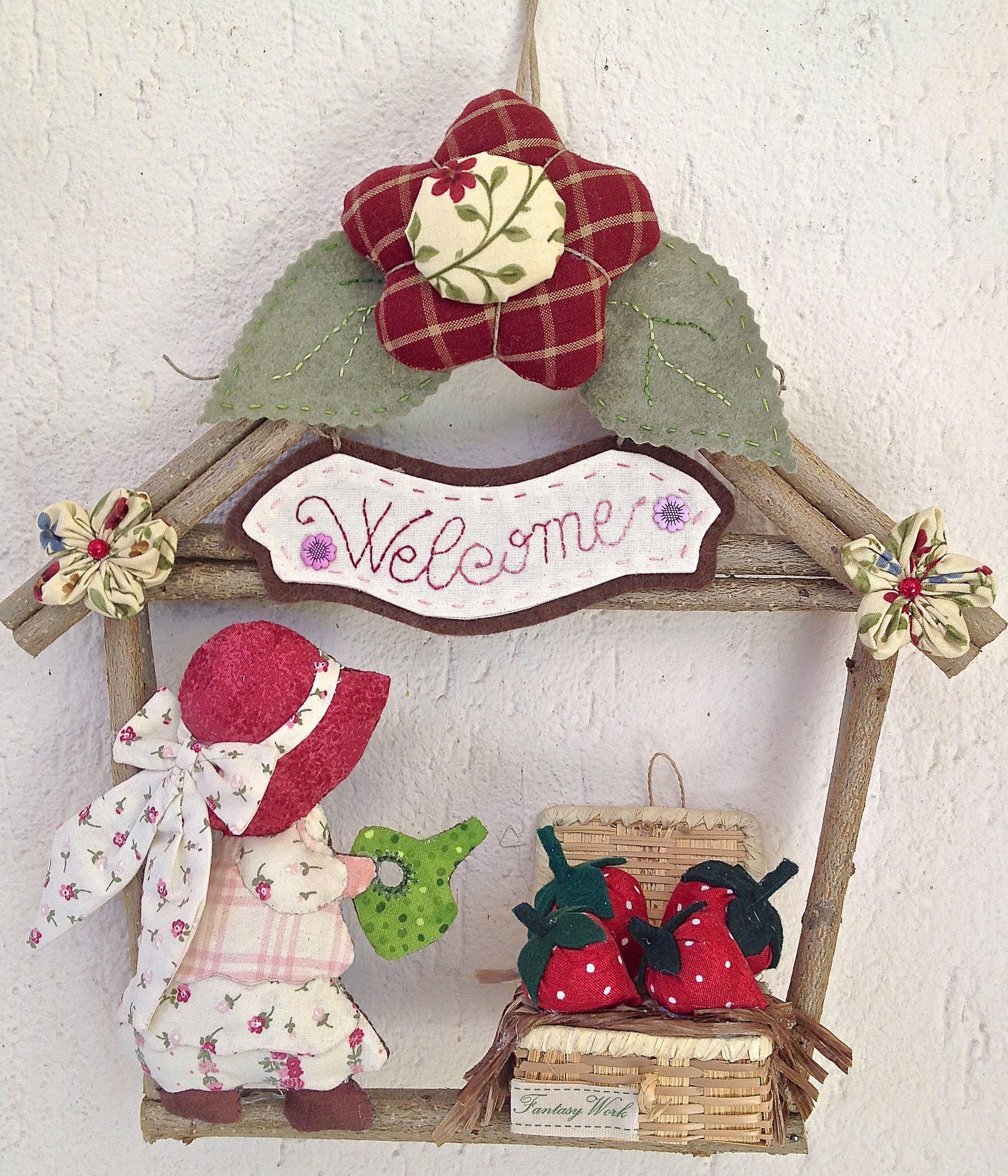 Ghirlanda casetta di Sue con fragole - fuori porta