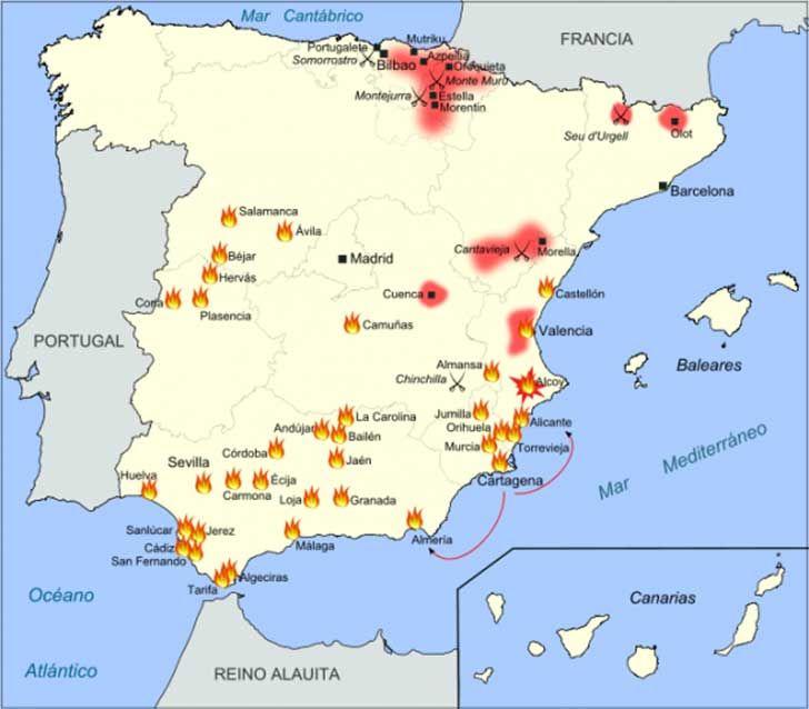 15 Mapas Que Resumen Rápidamente La Historia De España Historia De España Mapa De España Historia De Europa
