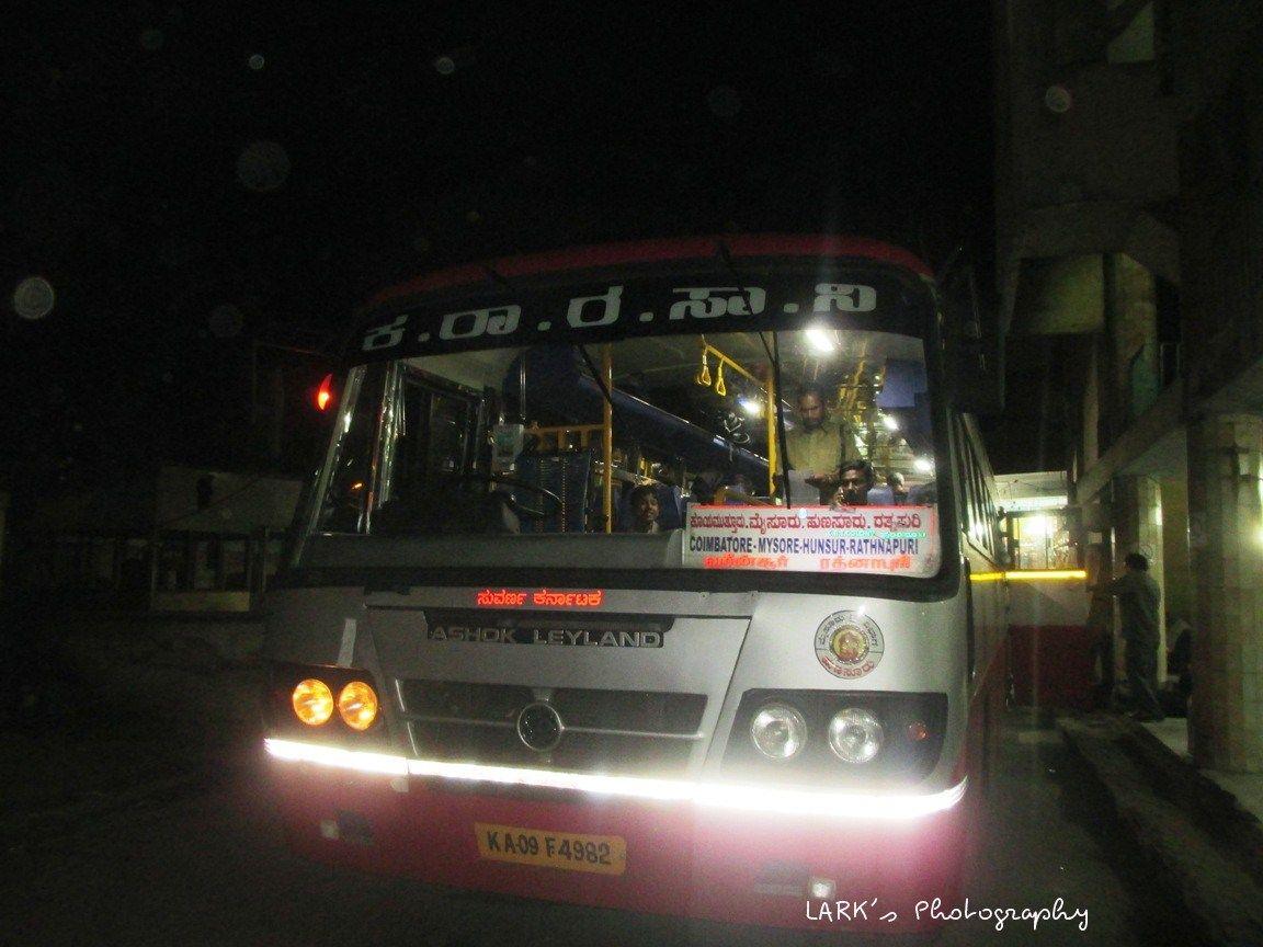 Ksrtc Interstate Karnataka Sarige Ka 09 F 4982 Coimbatore