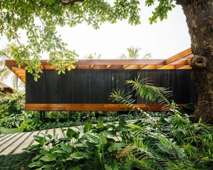 Maison contemporaine semi enterrée de Jacobsen Arquitetura