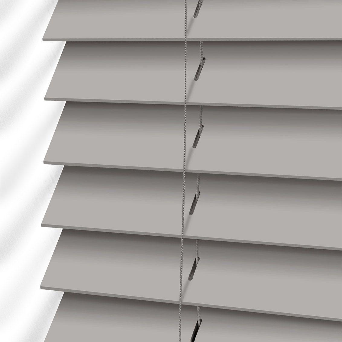 Cedar Grey 50mm Slat Woodenverticalblinds Faux Wood Blinds Wooden Blinds Blinds Design