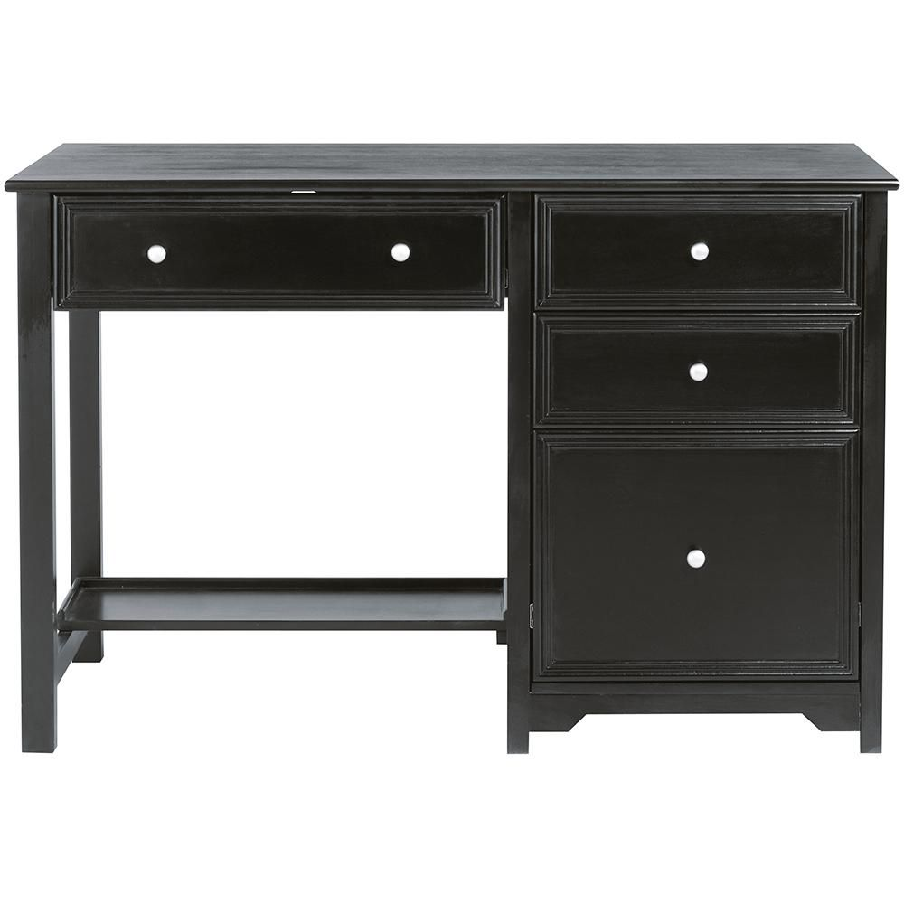 Home Decorators Collection Oxford Black Writing Desk 30 In H X