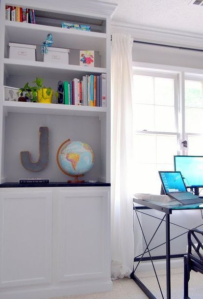 get organized with built ins, home office, organizing, shelving ideas, storage ideas