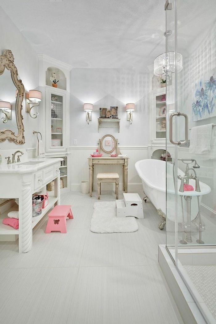 1001 id es d co de salle de bain r tro ultra l gantes - Meuble de salle de bain style baroque ...