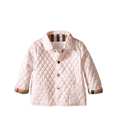 Burberry Kids Colin Quilted Jacket Infant Toddler Ice Pink Zappos Luxury Quilted Jacket Burberry Kids Girl Coat